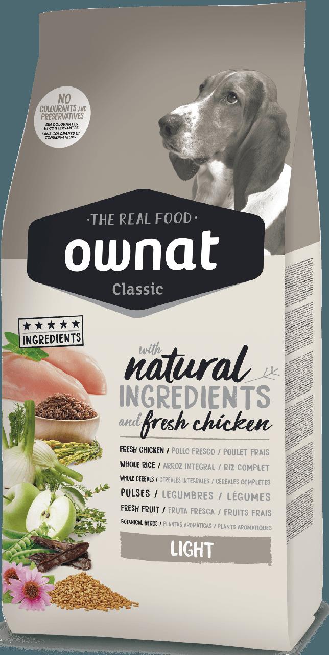 Овнат Ownat Classic Light сбалансированный сухой корм для собак низкокалорийный, 4 кг