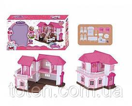 Заміський будиночок для Зайчиків Happy Family 1805 підсвічування, з меблями (аналог Sylvanian Families)