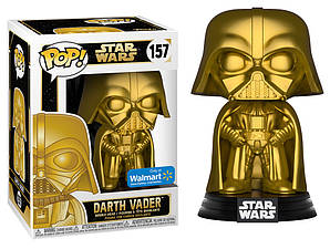 Фигурка Funko Pop Фанко Поп Звёздные войны Дарт Вейдер Star Wars Darth Vader Gold Metallic 10 см SW JF 157