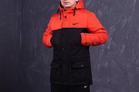 Парка Зима Nike мужская оранжево-черная XXL