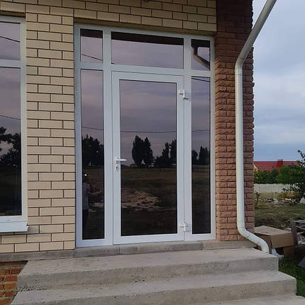 Теплые алюминиевые двери Алюмаш ТЕКНО 73ТИ, фото 2