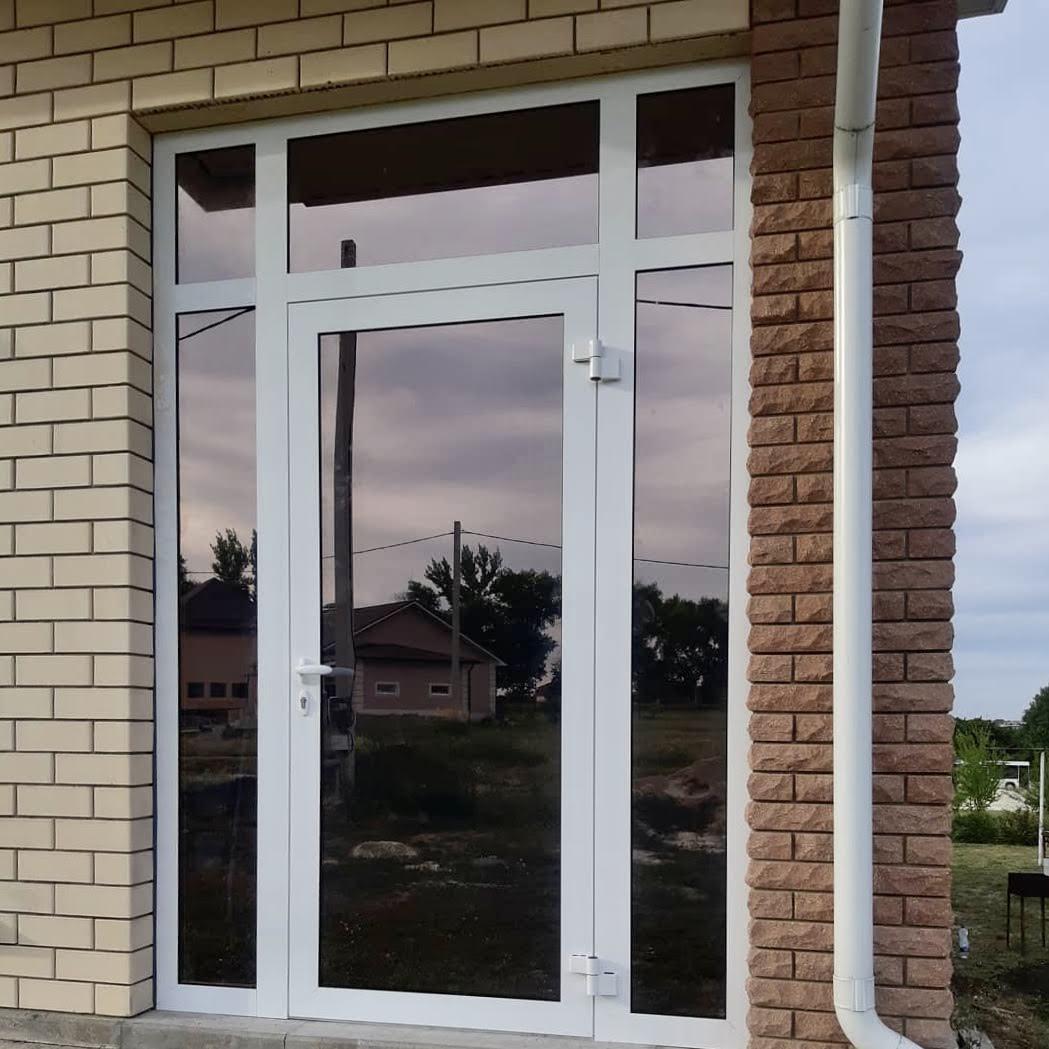 Теплые алюминиевые двери Алюмаш ТЕКНО 73ТИ