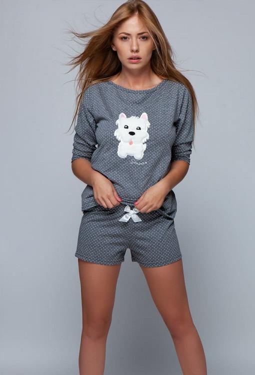 Молодіжна жіноча піжама із футболкою та шортами SENSIS Bella pizama S