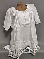 """Женская рубашка в полоску больших размеров № 0893   серия """"Mix""""  1RS-1771"""