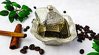 Східна цукорниця з карбуванням. сріблястий