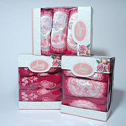 ТМ TAG Набор полотенец Lovely розов. (3 шт)