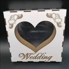 """Рамка-сосуд """"Wedding""""  для свадебной песочной церемонии."""