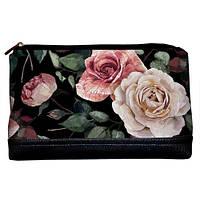 Женская косметичка Lovely Розы 26*15*8 см (KK_FFL003_BL)