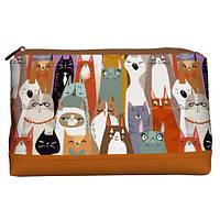 Женская косметичка Lovely Коты 26*15*8 см (KK_ILI049_BR)