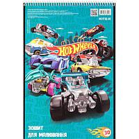 Альбом для рисования 30 л, A4, спираль, KITE / Hot Wheels 3