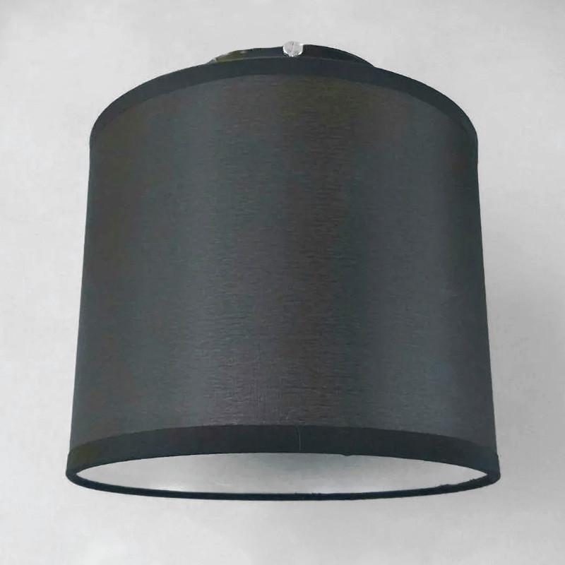 Люстра потолочная на одну лампу с абажуром  NM-814779/1 BK TK E27 черная