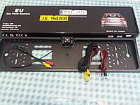 Камера заднего вида со светодиодами в рамке для номера