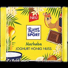 Шоколад Ritter Sport YOGHURT HONIG NUSS (Мол-й шок-д с начинкой йогурта, меда и орехов) 100г (1уп/12шт)