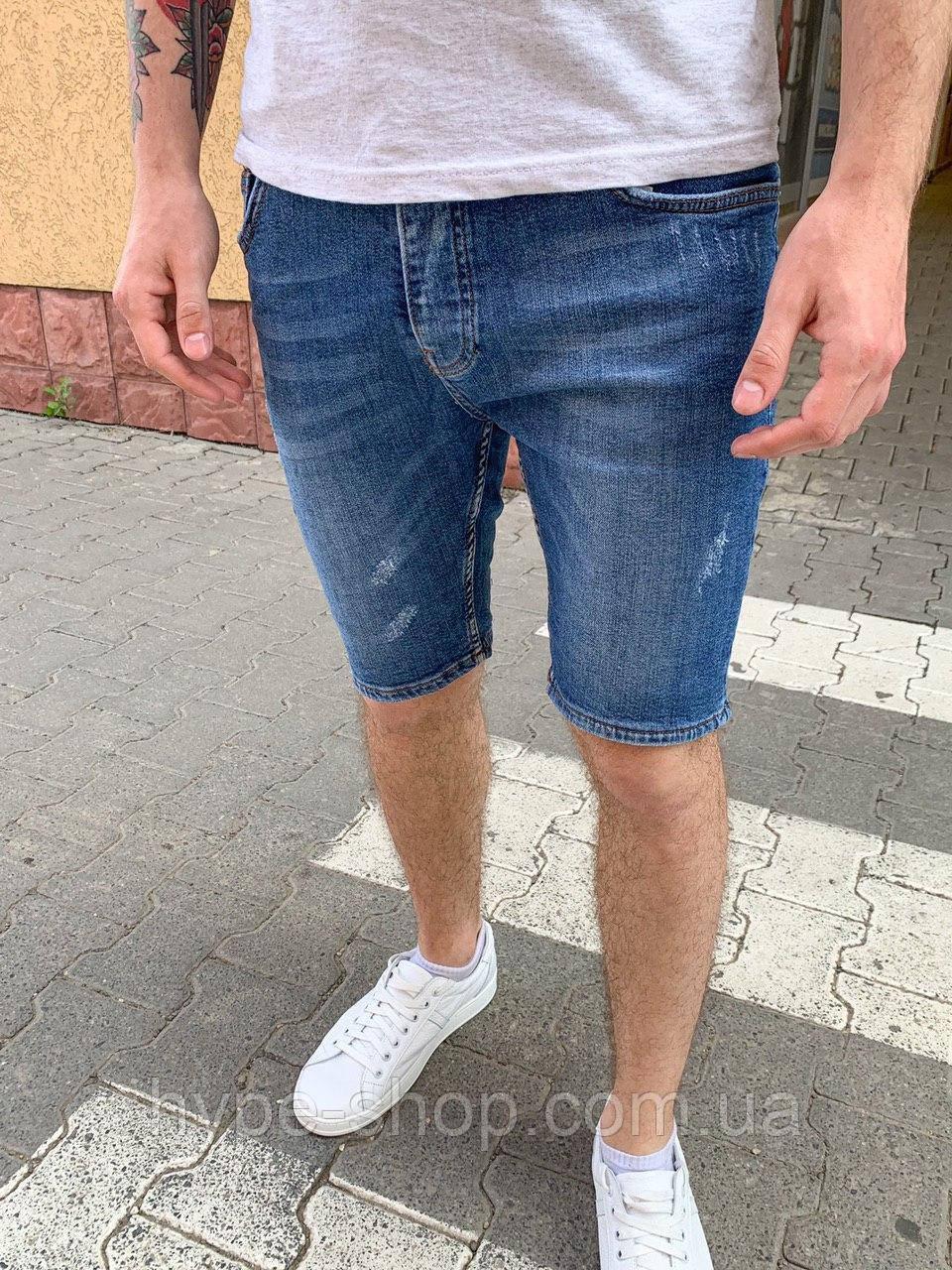 Чоловічі джинсові шорти сині