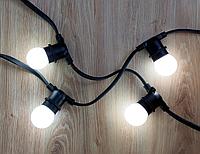 Уличная ретро гирлянда Белт-лайт 25м, 100хЕ27 без ламп