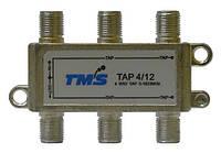 Ответвитель абонентский TAP 4/12 TMS (четыре выход -12дБ, один проходной выход)