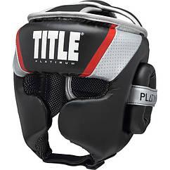 Шолом TITLE Platinum Primetime Чорний з сірим