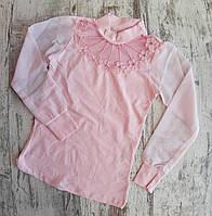 Гольф школьныйдетский для девочки6-12 лет, розового цвета