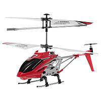 Вертолет Syma, на р/у, с гироскопом, металлический, свет, 3 цвета, USB, S107H