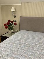 """""""Голубое с узорами"""" Бамбук летнее одеяло покрывало двуспальный размер 175/205"""