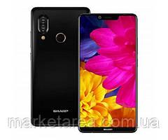Смартфон с большим дисплеем и двойной камерой на 2 сим карты Sharp AQUOS S3 black 4/64 гб
