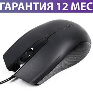 Комп'ютерна миша A4Tech OP-760 чорна, Optical, USB, 800 dpi, дротова мишка