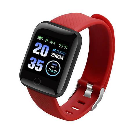 Смарт часы D13 (116 Plus) red, фото 2