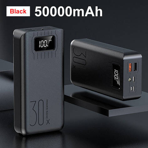Банк заряда XDOU 30x 50000mAh black, фото 2
