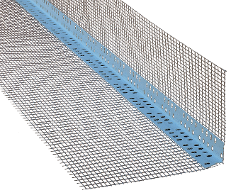 Профиль из ПВХ для наружных углов со стекловолокнистой сеткой 10*10см 2,5м