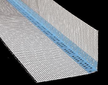 Профиль из ПВХ для наружных углов со стекловолокнистой сеткой 10*10см 3м