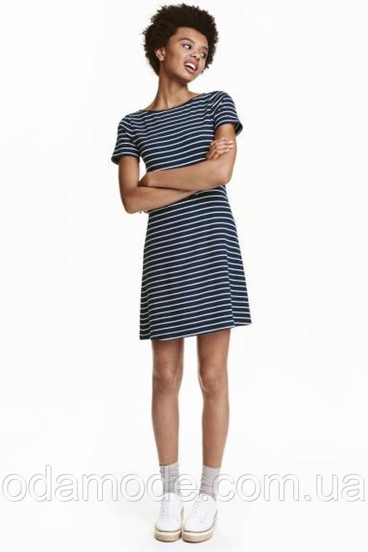 Платье женское синее в полоску h&m