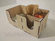 Органайзер барный деревянный для HoReCa и фаст-фуда на 6 отделов