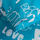 Комплект постільної білизни полуторний 1.5 спальний бязь, фото 4