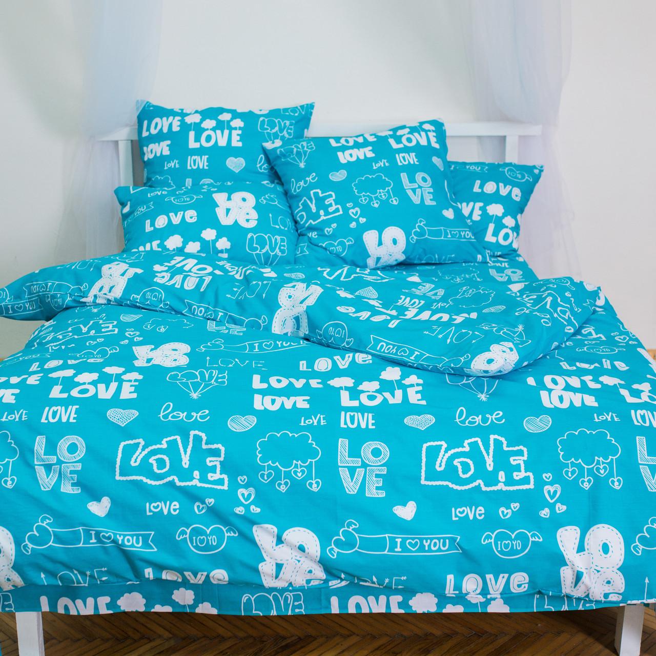 Комплект постельного белья двуспальный 2 спальный бязь