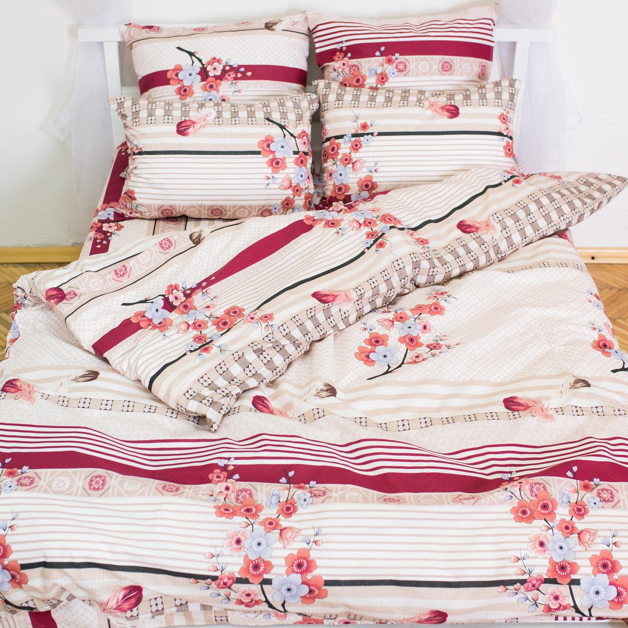 Комплект постельного белья полуторный 1.5 спальный бязь