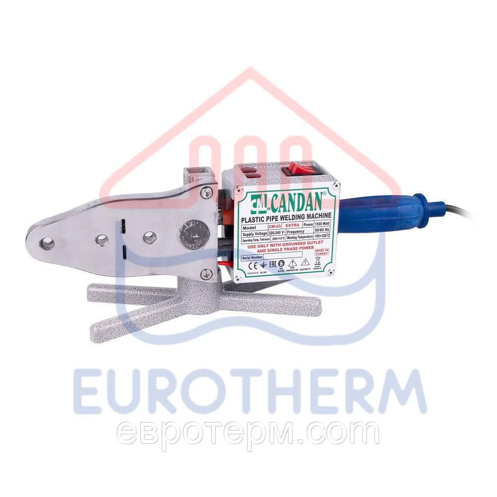 Паяльник для пластиковых труб CANDAN CM-03 SET EXTRA 1500 Вт 20-40 мм
