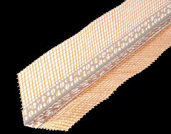 Уголок из ПВХ со стекловолокнистой сеткой 10+10 для защиты внешних углов  2,5м