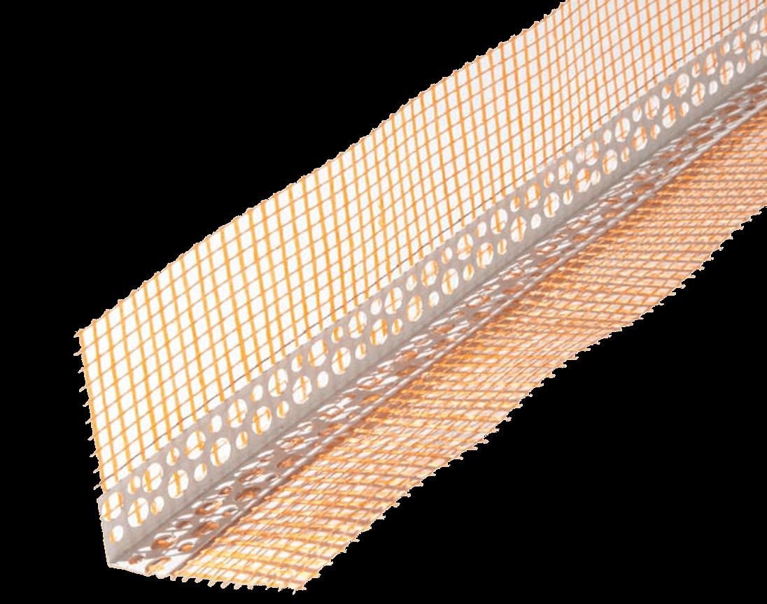 Уголок из ПВХ со стекловолокнистой сеткой 10+10 для защиты внешних углов  3м