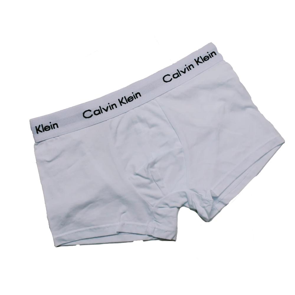 Мужские трусы боксеры Calvin Klein в подарочной упаковке Белые 5штук