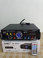 Усилитель звука КАРАОКЕ UKC AV-339BT от сети и 12 В