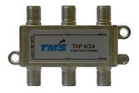 Ответвитель абонентский TAP 4/24 TMS (четыре выход -24дБ, один проходной выход)