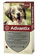 Bayer ADVANTIX от 10 до 25 кг - Байер АДВАНТИКС - средство от блох и клещей для собак, 1 пипетка