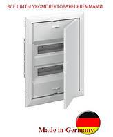 Распределительный щит на 24 модуля внутренней установки с металлической дверцей АВВ UK624Е3