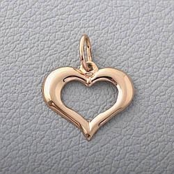 Золотий кулон сердечко П03083