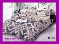 Двуспальный комплект постельного белья из хлопка на молнии Двоспальний комплект постільної білизни  S337