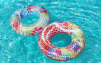 Надувной круг для плавания BESTWAY 36084 91см 10+ синий и красный