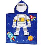 """Дитячий пляжний рушник - пончо """"Космонавт 2"""", фото 2"""