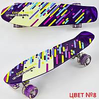 Пенни борд для детей от 6 лет, 55см, Свет колёса PU 6см Скейтборд Penny board, Лонгборд детский
