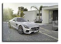 """Картина на холсте """"Mercedes AMG GT"""""""