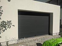 Секционные гаражные ворота DoorHan 2900*2000 (цвет антрацит), фото 2